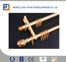 Silencer slot design high luminance attractive appearance aluminum alloy for double curtain rod