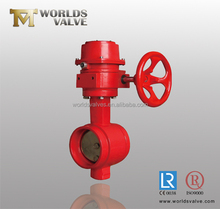 FIRE PROTECTION wafer butterfly valve with supervisory switch