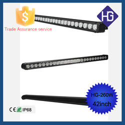 ON PROMOTION Auto led lighting 42inch led light bar, 260w led light bar for car