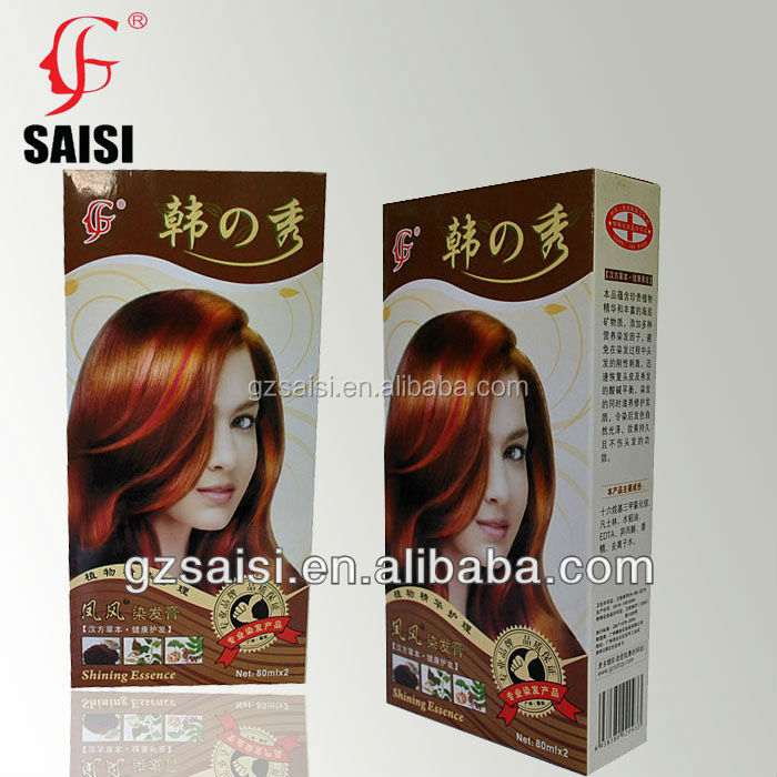Hair Dye SAISI Cream Colour Permanent Directions 2 Tube German Hair Coloring
