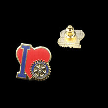 Wholesale enamel rotary badge ,hard enamel ,gold plated ,deluxe clutch fitting