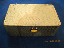 weabing seagrass basket with lid handicraft seagrass box gift box