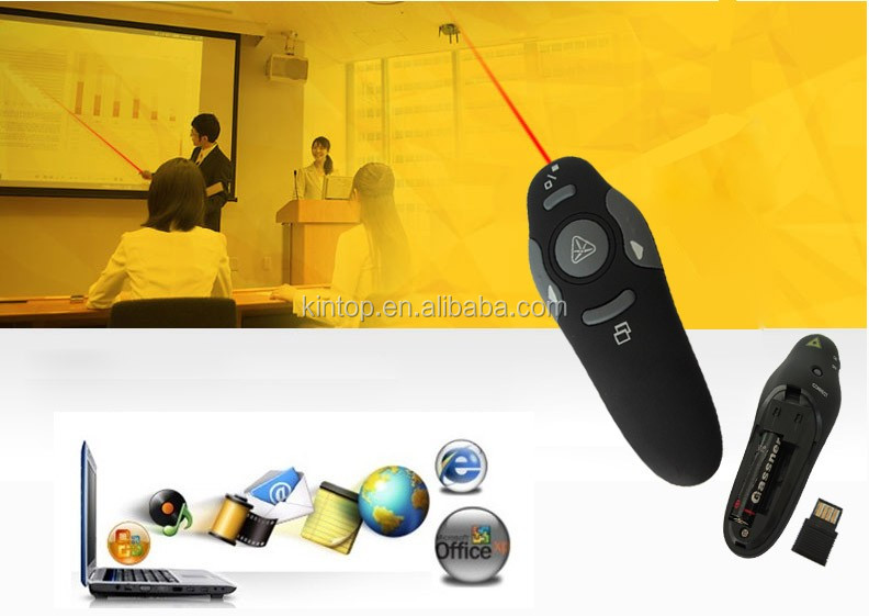 2017 Wholesale High quality of 2.4G PPT Presentation Presenter with wireless mini USB click for adults for speeching