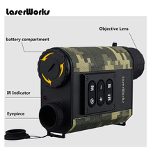 Waterproof 6X Outdoor Distance Measurement Infrared Night Vision Monocular for 200 meter target observe