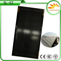 Flat Plate Solar Water Heating Copper Pipe Collector Selective Coating For Solar Collector