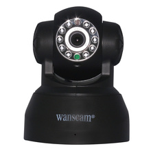 Wireless WiFi Network IR Infrared NightVision LED Wide Angle Color View IP Camera Dual Audio IP Camera Home Security Wanscam