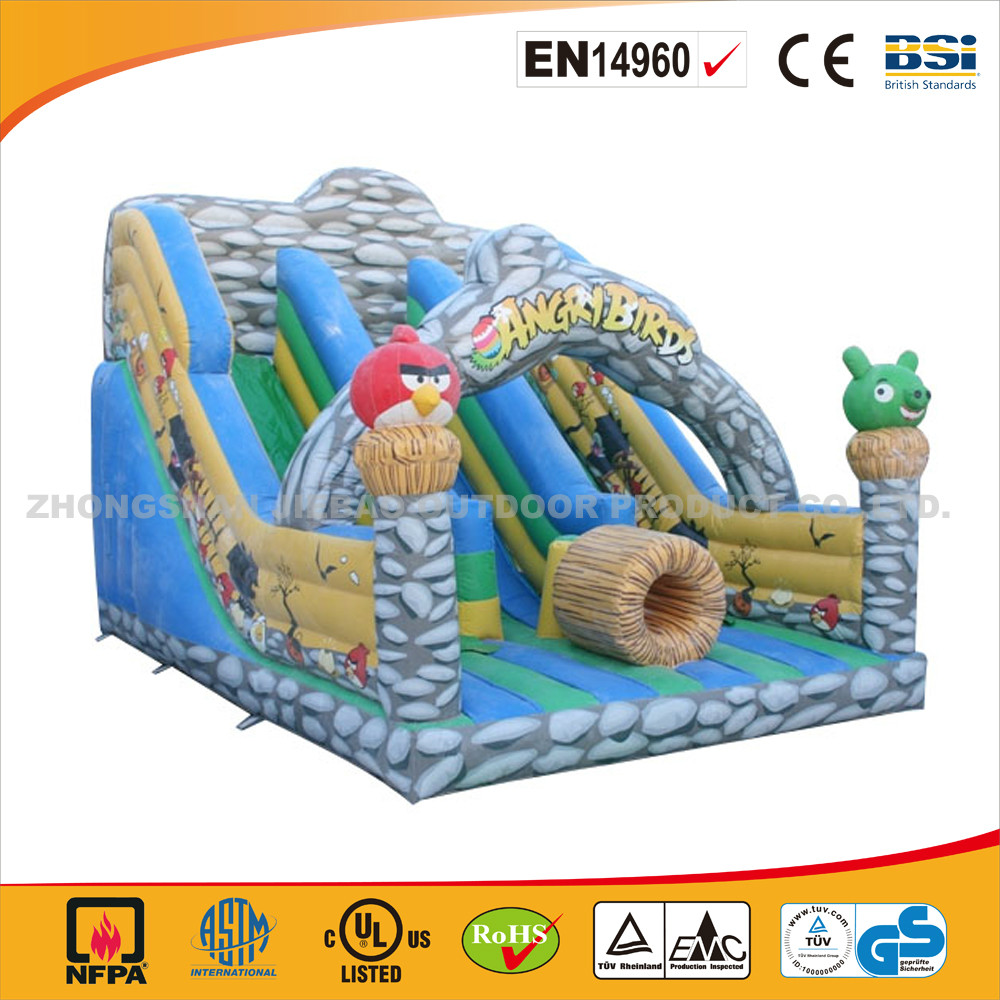 Cheap Inflatable Supper Slide Bouncer For Commercial Use/High Quality Little Birds Inflatable Bouncer With Supper Slide
