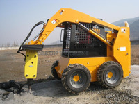Made In China 60HP Joystick Control 850KG Bucket Skid Steer Loader With Hammer For Sale