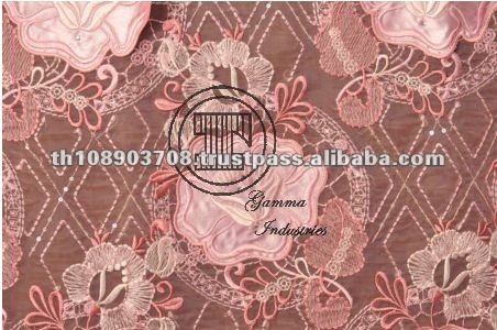 Thailand New Design Fashion Embroidered Fabric