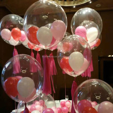 wedding party decorations clear PVC material plastic non latex transparent giant helium balloons