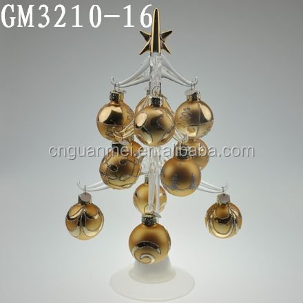 High Quality Christmas Decorative Glass Tree Sculpture