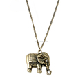Vintage Fashion Long Alloy Elephant Pendant Necklace