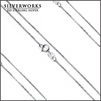 Wholesale Cheap Italian Pure 925 sterling Silver Snake Chain Necklace
