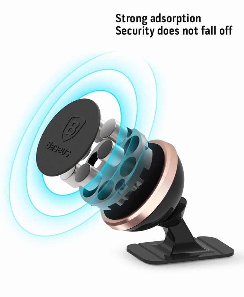 Baseus 360 Degree Magnetic Car Mount Holder For iPhone Smart Phone Universal 360 Rotating Car Holder Magnetic Mount Stand