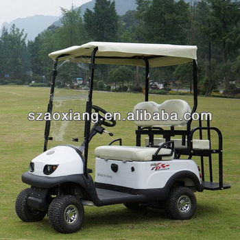 CE approved two seats pure electric golf cart,2012 new model,D2,2000x860x1710mm,36V/1.2KW,2-person