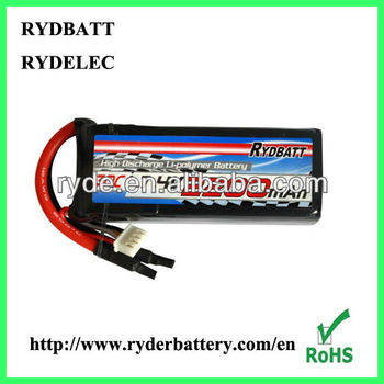 7.4V 2200mA 30C Polymer RC car battery pack