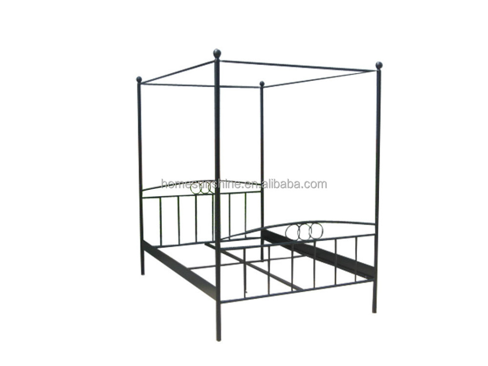 Modern Indoor Metal Bed with canopy