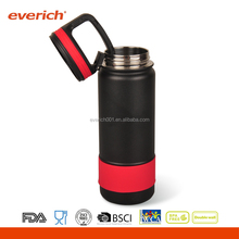Everich 18oz custom carabiner lid insulated vacuum water bottle with silicone sleeve
