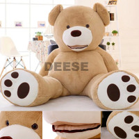 2016 Plush toys 130cm teddy bear empty shell coat bear skins with zipper Christmas Valentine's Day, birthday Gifts