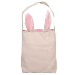 Eco Hemp Durability Pink Ear Grocery Egg Candy Tote Bag Easter Bunny Bag