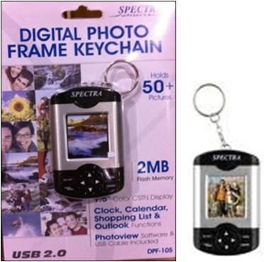 "DIGITAL PHOTO KEYCHAIN 1.5"" - BLACK"