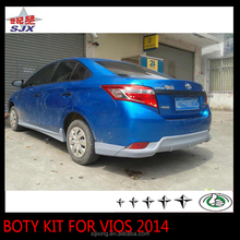 New pp plastic car body kit bumpers for new vios 2014