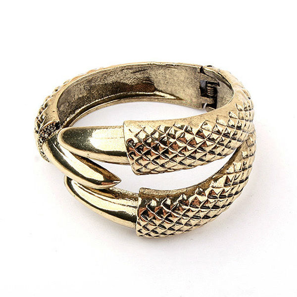 Yiwu factory directly sale high end african jewelry charms talons design antique bronze wide men bangle bracelet PB1922