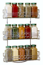 3 Tier Wall Mounted Metal Chrome Kitchen Spice Rack