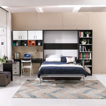 Wholesales Murphy bed hardware bedroom furniture,murphy folding wall bed with linkage sofa