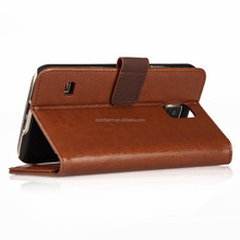 For samsung galaxy s5 book wallet case for galaxy s5 case with card slot