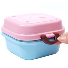 Mini Japanese Style Plastic Cartoon Printing Lunch Box For Children