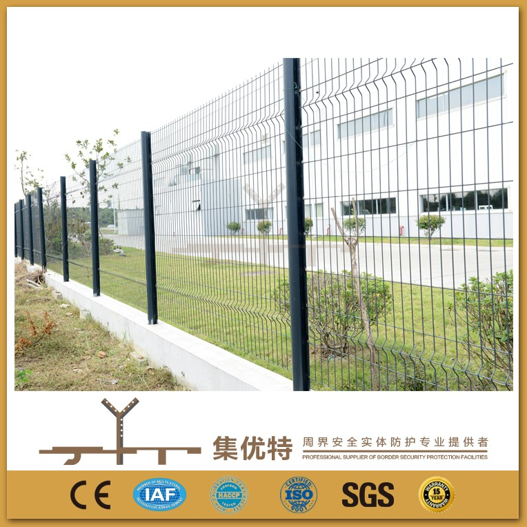 Applied for factory galvanized iron square double wire mesh fences