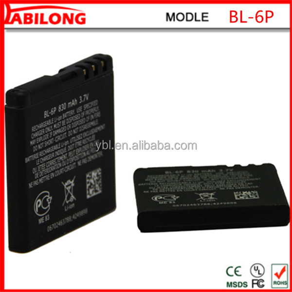 bl-6p 3.7v 830mAh phone battery for NOKIA 6500c 7900 Prism