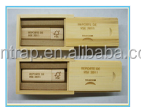 wooden usb and box