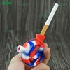 Cigarettes and Tobacco Smoking Filter Silicone Pipes Novelty Snail Design Vape Accessories