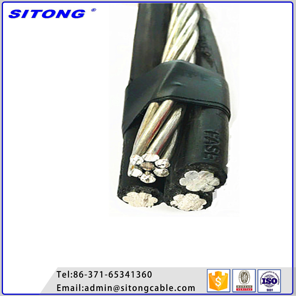 Low Voltage PE Insulated Aerial Bundled Cable 10mm2 16mm2 Aluminum Core ABC Cable