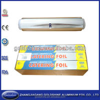 Aluminum foil small roll with plastic holder for heavy duty