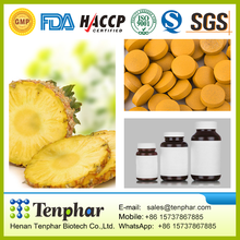 GMP Certificated Promote Digestion Pineapple Bromelain Powder Tablet
