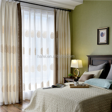 Shaoxing cheap poly linen textile window blackout curtain