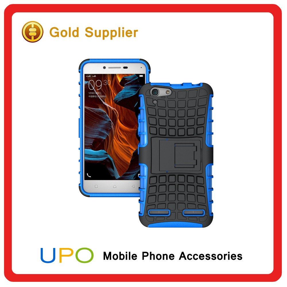 [UPO] Wholesale Combo Shockproof Hybrid PC Silicon Back Cover Case for Lenovo K3 Note With Kickstand