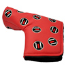 Custom PU Leather Magnetic Golf Head Cover