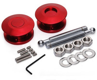 HANXUNDA NEW Quik Latch Low Profile Push Button Billet Hood Pins (red)