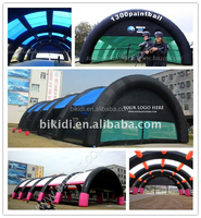 Top quality inflatable paintball tent for sale from factory/inflatable paintball field K5018