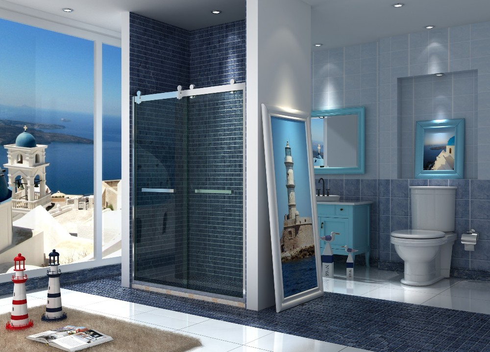 door 10mm glass thickness luxury shower sliding glass door cheap