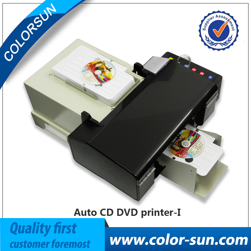 Auto PVC card inkjet Printer of CE certification with 50 pvc card trays and 1pc Cd tray