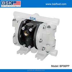 1/4 inch small size PP inlet and outlet santoprene diaphragm air driven pneumatic diaphragm pump