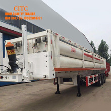3 axle CNG tank container semi trailer Gas Cylinder Number 8 pipes lpg transport semi trailer CNG LNG transport semi trailer