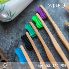 Natrual Eco-friendly 100% biodegradable bamboo toothbrush