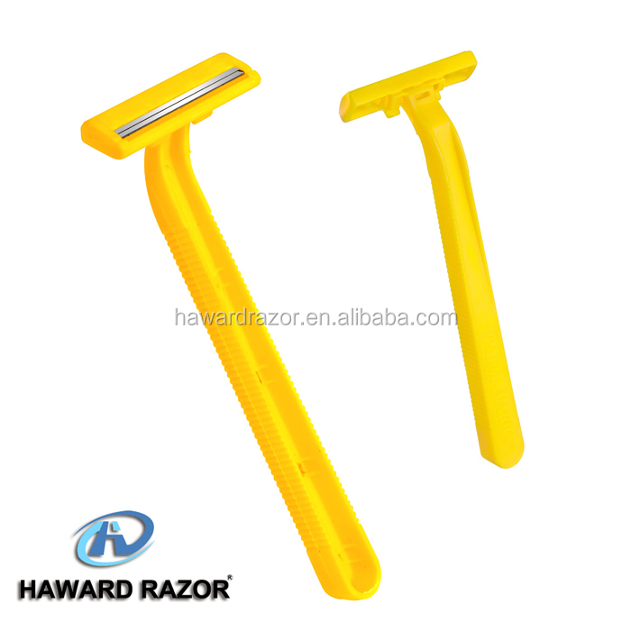 D206 one time twin blade shaving razor with plastic handle