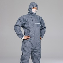 CE Certificated Disposable Cleanroom Coverall SMS Dust Proof Coverall